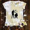 Женская футболка  с принтом - Dead