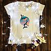 Женская футболка  с принтом - Киты