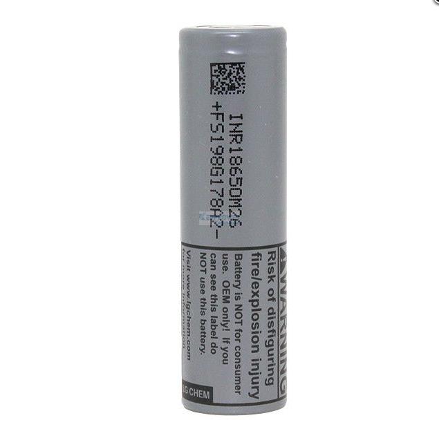 Аккумулятор 18650 Li-Ion LG INR18650M26, 2500mAh, 10A, 4.2/3.6/2.5V, GREY, OEM