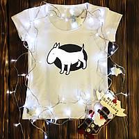 Женская футболка  с принтом - Бультерьер