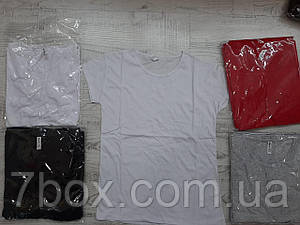 Однотонная женская футболка котоновая Неус Турция оптом S M L