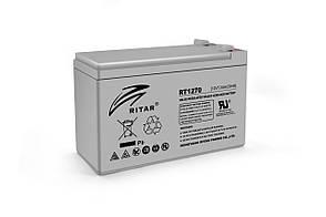 Акумуляторна батарея AGM RITAR RT1270, Gray Case, 12V 7.0Ah ( 151 х 65 х 94 (100) ) Q10