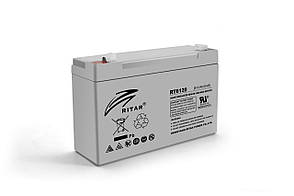 Акумуляторна батарея AGM RITAR RT6120A, Gray Case, 6V 12Ah ( 150 х 50 х 93 (99) ) Q10