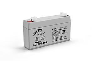 Акумуляторна батарея AGM RITAR RT613, Gray Case, 6V 1.3Ah ( 97х24х 52 (58) ) Q20