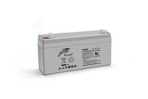Акумуляторна батарея AGM RITAR RT632, Gray Case, 6V 3.2Ah  ( 134х35х60 (66) ) Q20