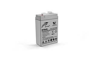 Акумуляторна батарея AGM RITAR RT645, Gray Case, 6V 4.5Ah ( 70х47х99 (105) ) Q20