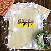 Мужская футболка с принтом - СКАМ