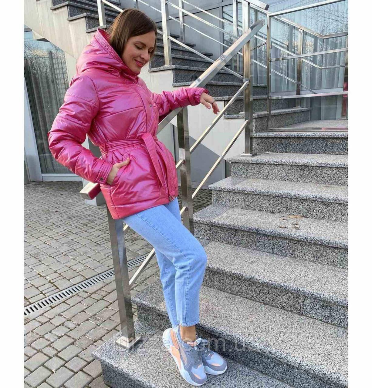 Молодежная короткая куртка 42-52р, малиновый
