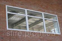 Окно противопожарное наружное ЕІ 30 600х600мм (Цвет:белый)