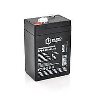 Аккумуляторная батарея EUROPOWER AGM EP6-4.5F1 6 V 4.5 Ah ( 70 x 47 x  100 (105) )  Black Q20