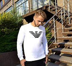 Мужской Свитшот. Реплика GIORGIO ARMANI WHITE. Мужская одежда