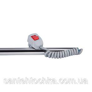 Полотенцесушитель электрический Lidz Snake shelf (CRM) 500x500 RE с полкой, фото 2