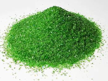 Скляна крихта Зелена фракції 2-3 мм - 150 грам.