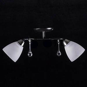 Припотолочная люстра на две лампочки (черная) P3-37398/2C/BK+CR+WT