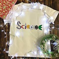 Чоловіча футболка з принтом - Наука