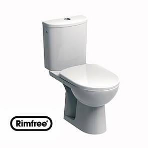 Унитаз KOLO NOVA PRO Rimfree-напольный, г/в, Rimfree, бачок округлой формы, нижн/п, 6/3 л, с микролифтом