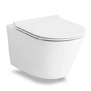 Унитаз VOLLE NEMO Rimless 52x36x39 см подвесной, сиденье твердое Slim slow-closing