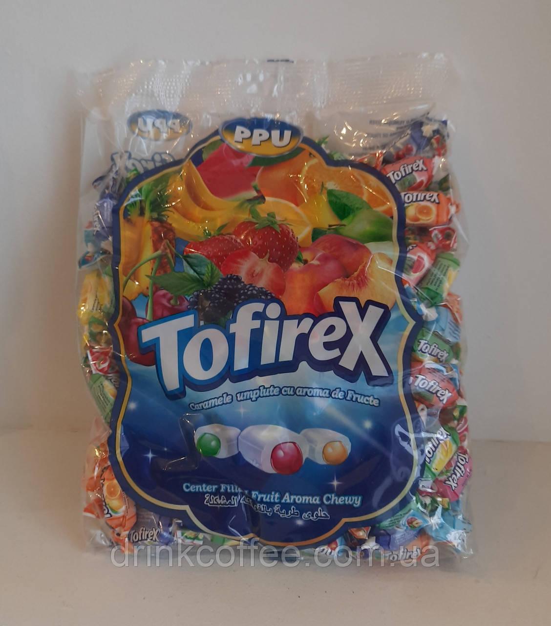 Жувальні цукерки з фруктовою начинкою Tofirex 1кг