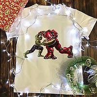 Мужская футболка с принтом - Marvel (Hulk vs HulkBuster), фото 1