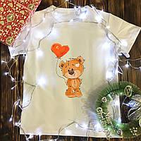 Чоловіча футболка з принтом - Ведмедик з кулькою