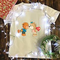 Чоловіча футболка з принтом - Ведмедики цілуються