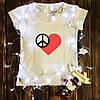 Жіноча футболка з принтом - Серце Хіпі