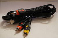Аудио-Видео кабель Jack 3,5 (4 pin) на штекер 3 RCA 1.5м