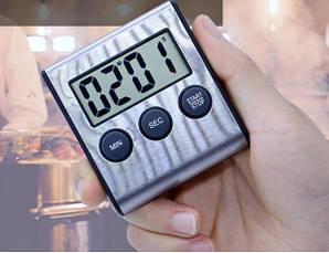 Таймер кухонный цифровой JS-109 с магнитом, нержавеющая сталь