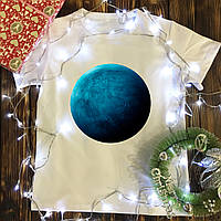 Мужская футболка с принтом - Нептун
