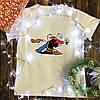 Мужская футболка с принтом - Моряк Папай с девушкой