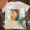 Чоловіча футболка з принтом - Оголена дівчина