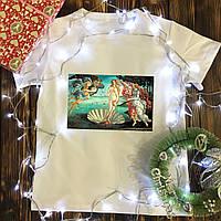 Чоловіча футболка з принтом - Народження Венери