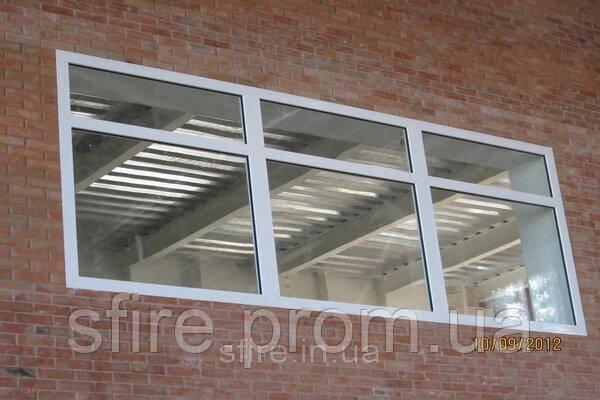Окно противопожарное наружное ЕІ 30 1100х700мм (Цвет:белый)