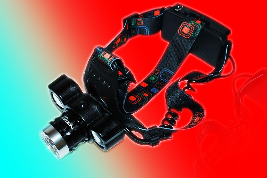 Ліхтарик налобний Police BL-C868-T6+2COB 320000W