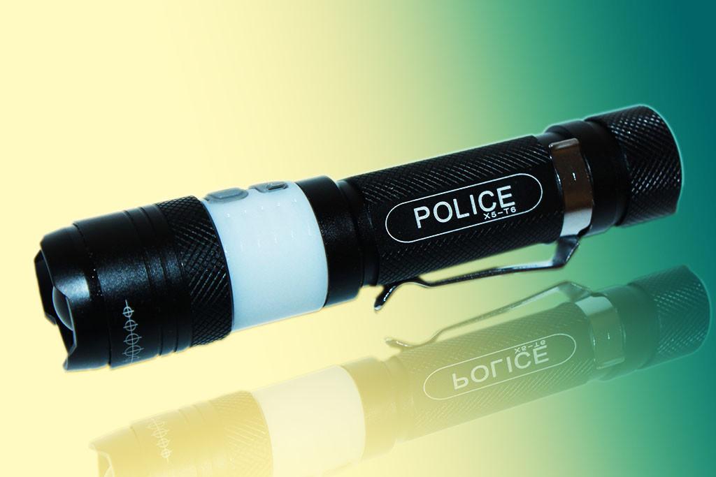 Яскравий ліхтарик Police X5 -T6 USB (світильник)