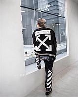 Мужской коттоновый Бомбер Off-White business casual black с ярким дизайном