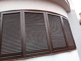 Ставни на балконы и окна закругленные