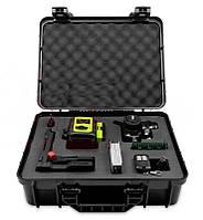 ПОЛНЫЙ КОМПЛЕКТ Лазерный уровень Fukuda MW94D 4GX PRO ТОЛЬКО У НАС В УКРАИНЕ - бирюзовый луч