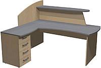 Стол Премьера рецепшн с ящиками (правый) 180х170х127 см