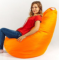 Кресло груша оранжевое XL 120х85 см