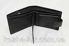 Портмоне удобное чёрное кожаное, фото 3