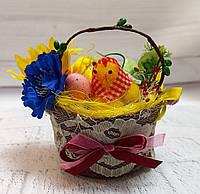 Пасхальный декор корзинка на Пасху Пасхальные подарки и украшения Пасхальные поделки в школу и дет сад