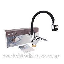 Змішувач для кухні з рефлекторним виливом Brinex 41C 008BF, фото 3