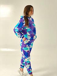 Женский спортивный костюм  в стиле тай-дай. Лимитированная версия. Размер S, M, L, XL