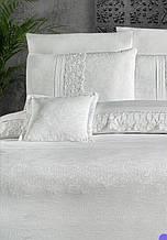 Комплект постельного белья сатин Moonlight first choice евро размер Florenza Beyaz