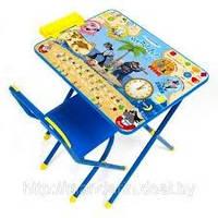 Набор детской трансформируемой мебели №3 «Ну погоди», синий. Купить парту Дэми в Киеве