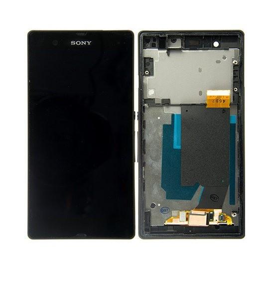 Дисплей для Sony C6602 | C6603 | C6606 | L36h | Xperia Z с сенсорным стеклом в рамке (Черный) Оригинал Китай