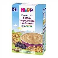 Каша молочная Hipp 5 злаков с черносливом с пребиотиками 250 г