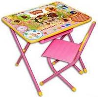Набор детской трансформируемой мебели №3 «Вини Пух», розовый. Купить парту Дэми в Киеве