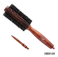 Брашинг на деревянной основе  22х2,5х2,5 см Lady Victory (в комплекте с разделителем прядей) LDV HBW-09 /99-0